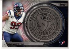 2014 Topps NFL Kickoff Coin JJ Watt Wisconsin Houston Texans Defensive POY
