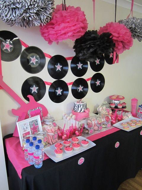 pink, black and zebra! Birthday Party Ideas | Photo 1 of 24 | Catch My Party
