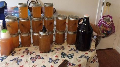 Apple pie-flavored moonshine made with cake-flavored vodka is a tasty way to keep warm during the holiday months.