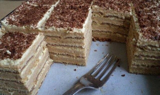 JEDNOSTAVNA TORTA BEZ PEČENJA: TORTA SA TURSKI KEKSOM!!! Veoma jednostavna, a tako kremasta i fina. ~ Recepti za brza i jednostavna jela