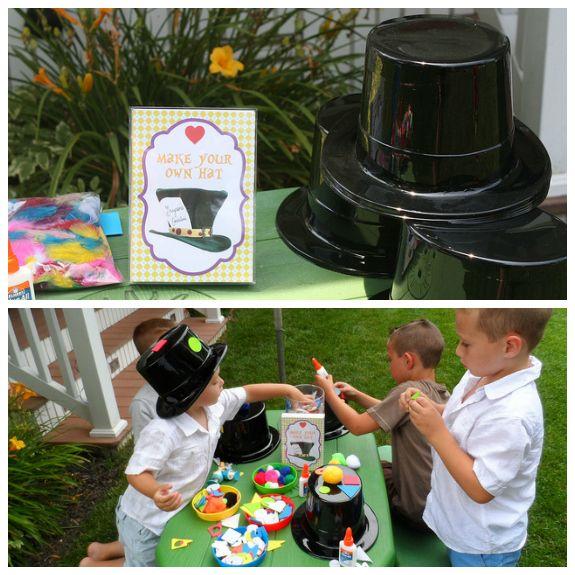 alice in wonderland decoration ideas | Alice in Wonderland Party Ideas games mad hatter hat craft