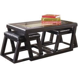 Signature Design by Ashley Kenan Coffee Table with Nested Stools