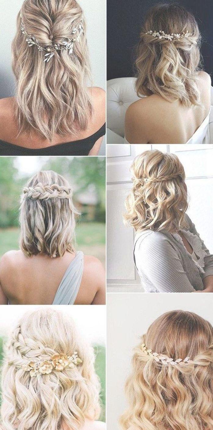 Medium Length Half Up Half Down Wedding Hairstyles Medium Hair Styles Hair Styles Wedding Hair Down