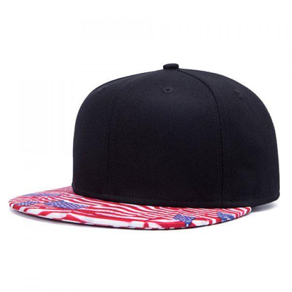 Stylish American Flag Pattern Brim Men's Black Baseball Cap #jewelry, #women, #men, #hats, #watches, #belts