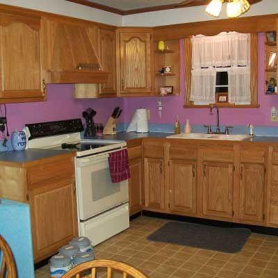 121 best images about kitchen makeover on pinterest mosaics kitchen backsplash and knotty - Knotty pine cabinets makeover ...