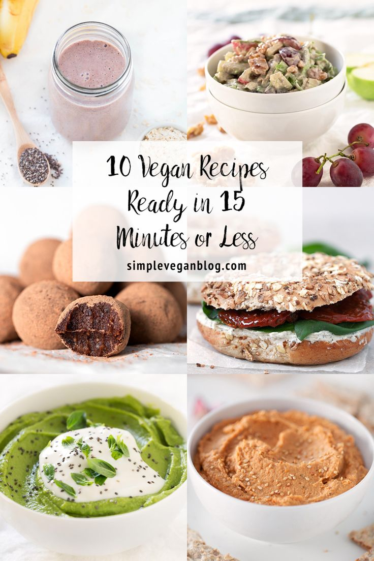 You just need 15 minutes (or less) to make healthy, nutritious, simple, vegan recipes, that also taste amazing. These are some of our favorite 15 minute recipes, including breakfast, dessert, lunch, dinner and even drink recipes. If you're really busy on a daily basis, but want to eat delicious and healthy food, you should take...Continue Reading →