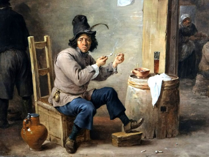https://flic.kr/p/w23gNj | Stadelsches Kunstinstitut, Frankfurt | David Teniers the Younger (1610-90) - Smoker at an inn, c1659 : detail