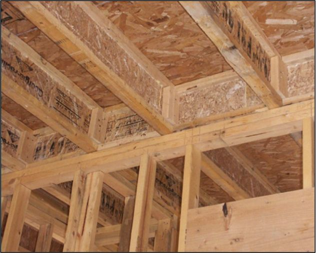 Sealing the space between floor or roof joists is very important because of the cold air that could be coming in or escaping and causing more need for heating. Preventing air leakage in the framing stage helps to avoid larger renovations later on and avoid the little band aid fixes with proper construction methods in the beginning.