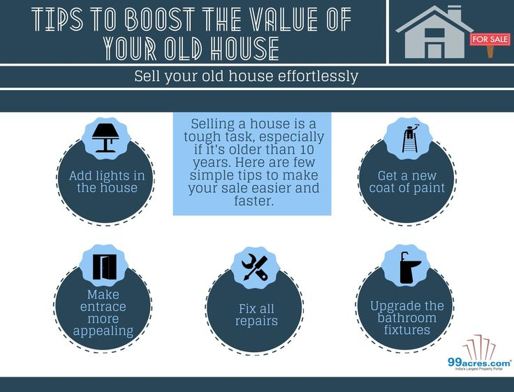 #Tips to boost #sale of old #house  #RealEstate #Infographic