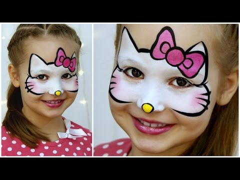 """""""Hello Kitty"""" Makeup for Kids — Fast & Easy Face Painting Tutorial - YouTube"""