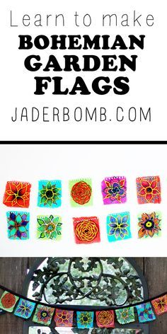 EASY TRICK TO MAKING GARDEN FLAGS – Tutorial - WWW.JADERBOMB.COM