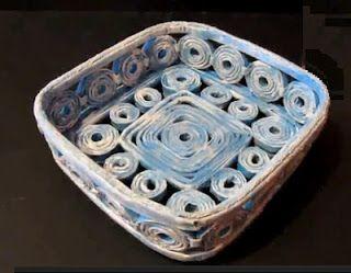 Divagando Alto: Artesanato com jornal e revista – Reciclando!!