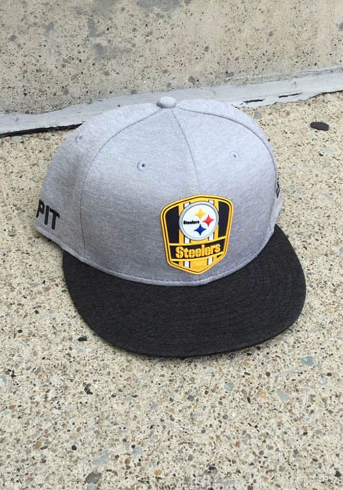 f5d938a6 New Era Pittsburgh Steelers Mens Grey NFL18 Official Sideline Road ...