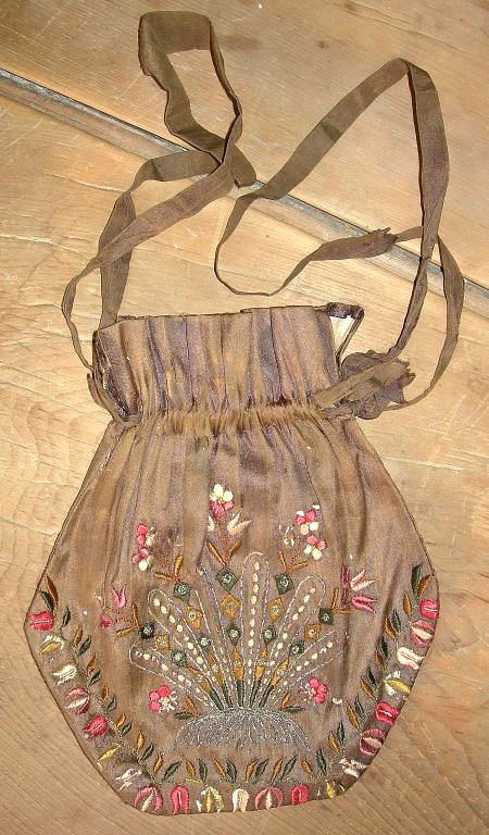 Circa 1840 draw string pocketbook