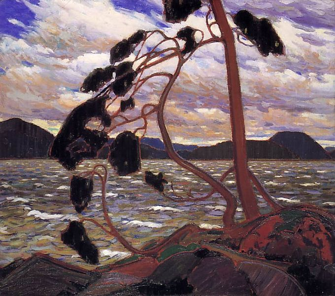 """The West Wind"" by Tom Thomson, 1917 Great Canadian artist."
