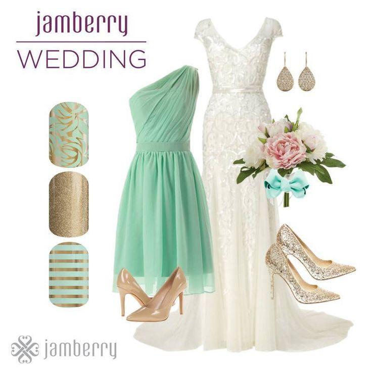 Jamberry wedding nails, no fuss, no mess just perfect nails