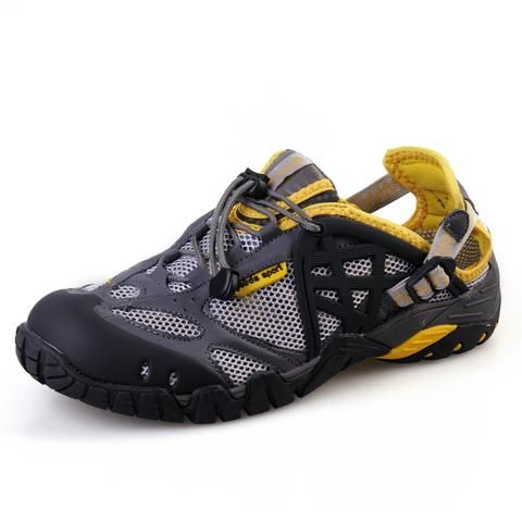 Are you ready for an adventure?  Professional Outdoor Slip On Water Hiking Shoes / Breathable, Water-Resistant, doesn't hold water / Amazing traction, excellent for hiking, built for active wear! #climbing #backpack #trekking #sports #adventures #adventuretravel #outdoor #outdoorlife #hiking #travelling #camping #camper #camping #shoes #adventure