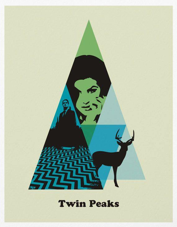Twin Peaks Poster A3 Print by sanasini on Etsy. $18.00, via Etsy.