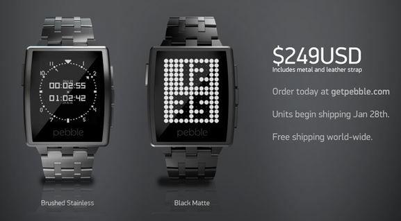 trendy Pebble Steel watch