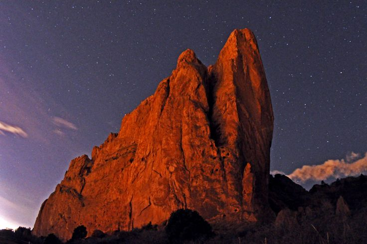 Garden of the Gods - Nighttime at North Gateway Rock - Stewart M. Green - OutThere Colorado