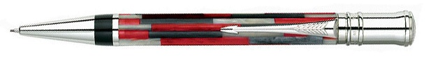 Parker Duofold Mosaic Red Ballpoint Pen