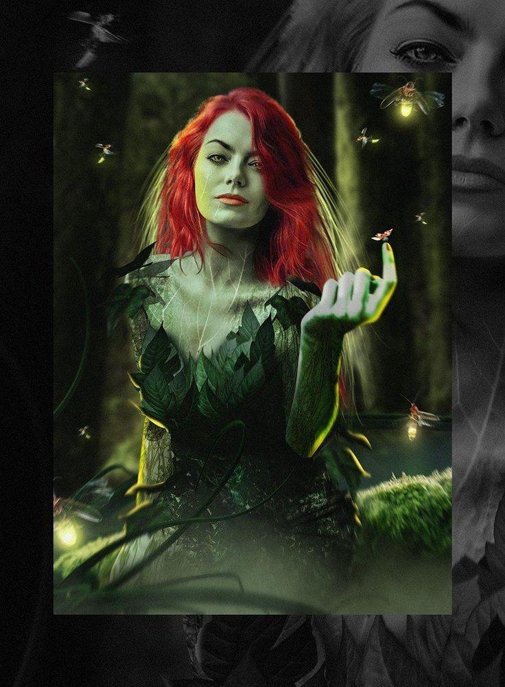"""Veja como Emma Stone ficaria de Hera Venenosa em """"Sereias de Gotham""""! - Eu Devito"""