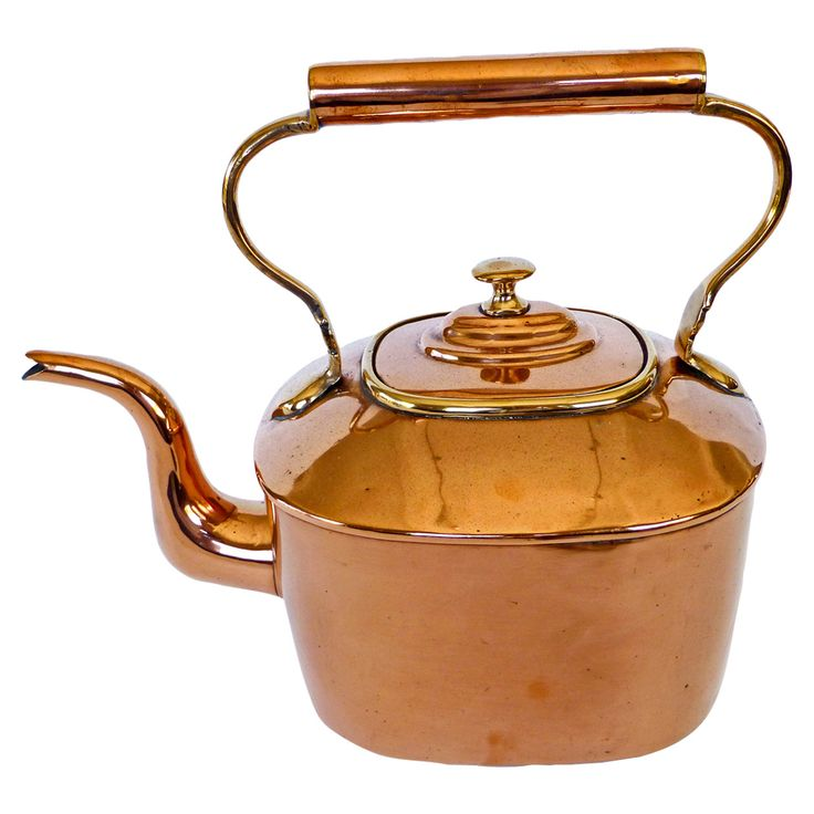 English Oval Copper Kettle, circa 1820 | 1stdibs.com