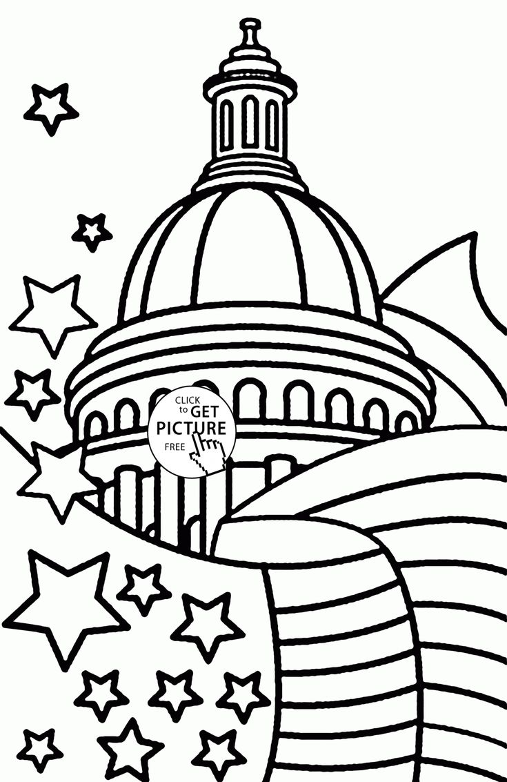 Free coloring pages for july 4th - Independence Day Of The United States Coloring Page For Kids Coloring Pages Printables Free Kid Printablesjuly 4thhappy