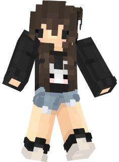Fille trop cute pull lapin minecraft skin | Nova Skin