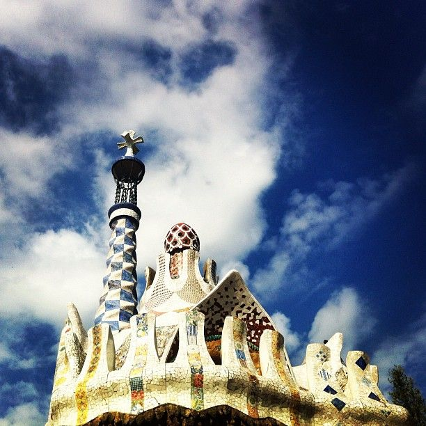 Frosted gingerbread house ala Gaudi. #barcelona #travel