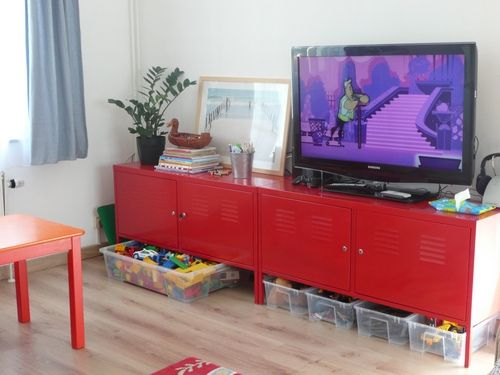 Ikea Ps Cabinet As Tv Stand In Playroom Kids Workspace Aka Playroom Pinterest
