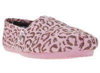 Toms classic vegan pink leopard grain women shoes size 9
