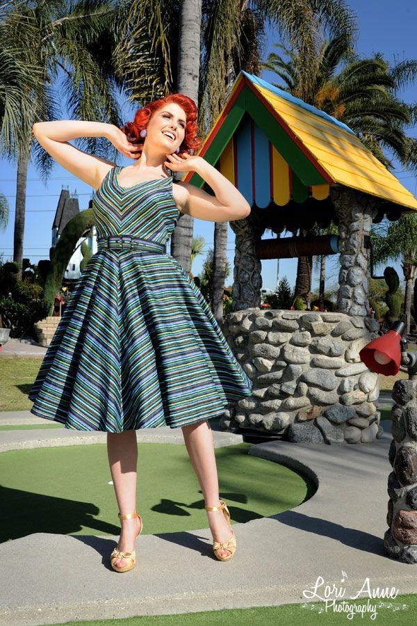 havana nights dress in cool toned cabana stripes the. Black Bedroom Furniture Sets. Home Design Ideas