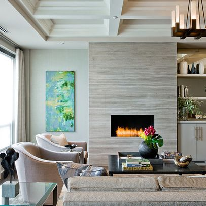 Ann Sacks Marble Slabs Athens Silver Cream 30x72 Surround Fireplace This Is My Contemporary FireplacesContemporary Living RoomsLiving Room