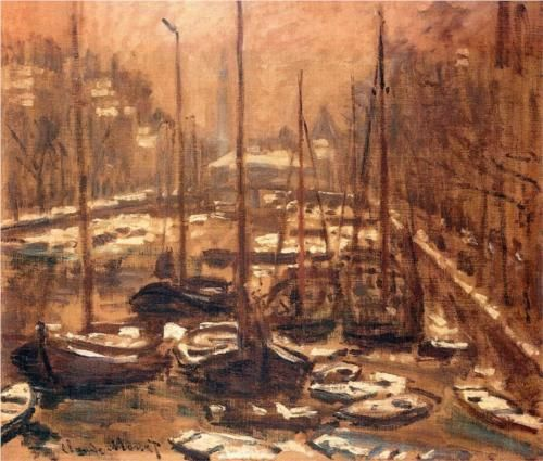 GeldersekadeofAmsterdamInvierno - Claude Monet