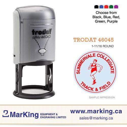 Trodat 46045 self-inking text stamp
