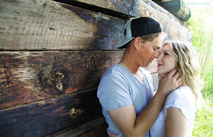 Romantic, woodsy, engagement photo by 'Ashleigh's Impressions'