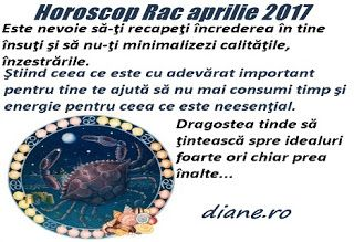 Horoscopul Racului aprilie 2017 anticipează o fază iniţială de derută, dezlănţuire a unor energii negative interioare şi exterioare, atât în...