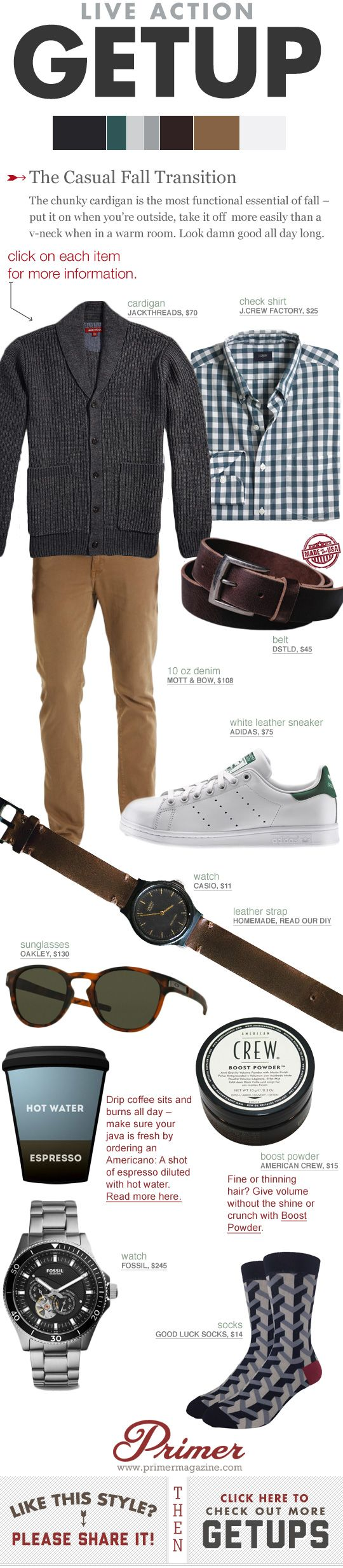 Live Action Getup: The Casual Fall Transition   Primer