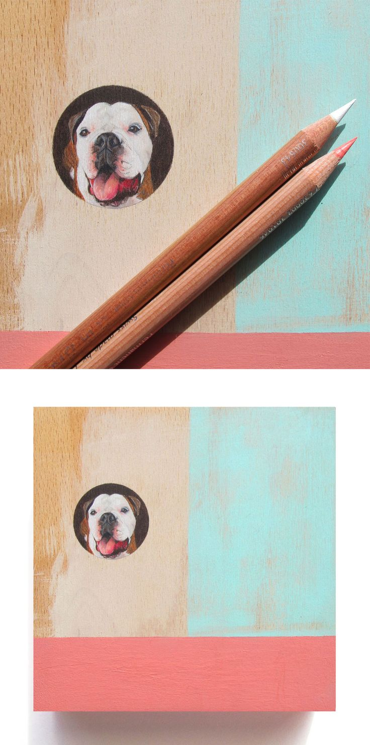 lil newman, coloured pencil and acrylic on panel, 15 x 15cm, 2014, Laura E Kennedy