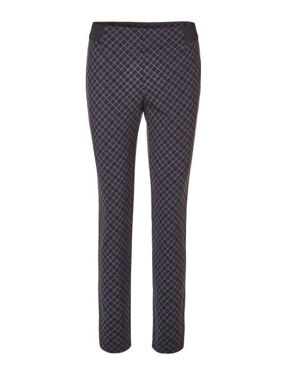 Plum Plaid Legging, Black/Plum/Grey
