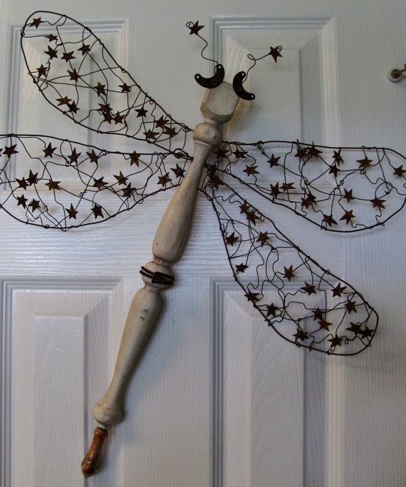 Table Leg Spindle Dragonfly Wall or Garden by LucyDesignsonline