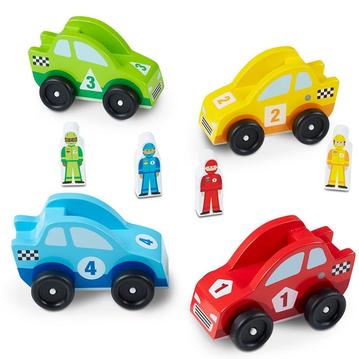 Buy Melissa and Doug Wooden Race Car Vehicle Set Online at Toy Universe