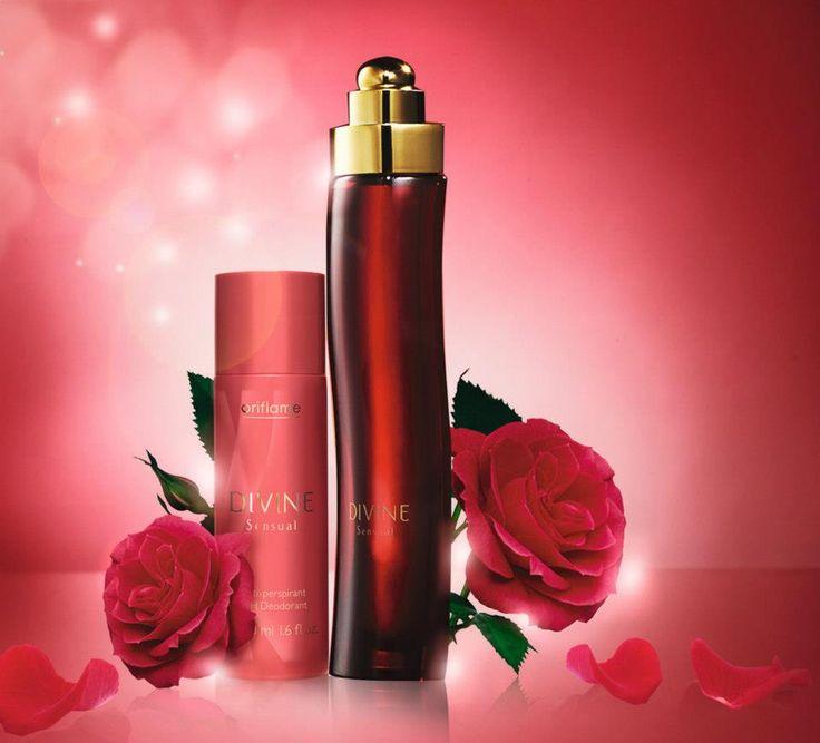 Divine Sensual Eau de Parfum & deodorant by Oriflame #red
