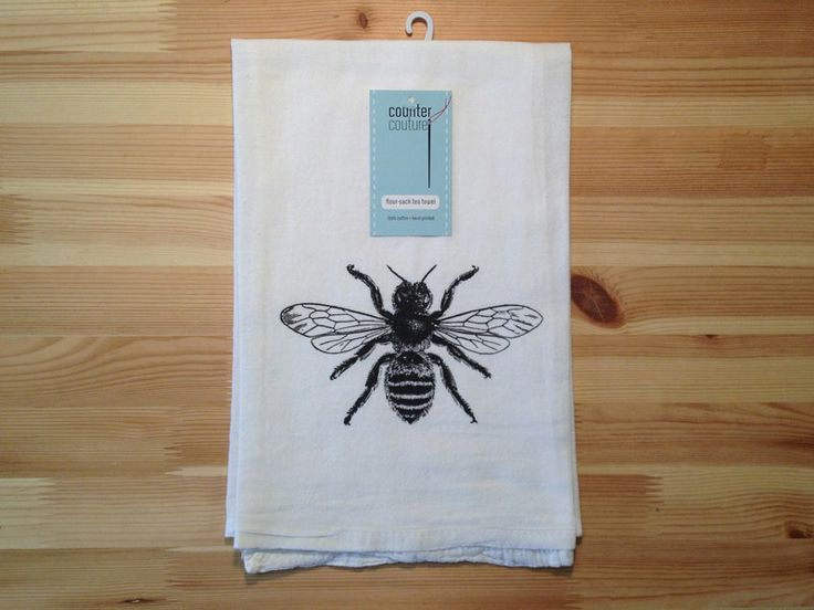 Bee Kitchen Towel Flour Sack Tea By Countercouturedesign 1000