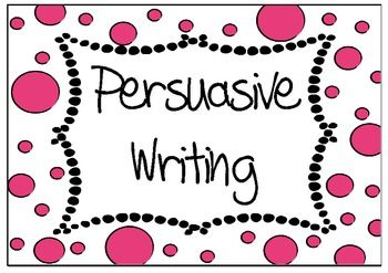 Persuasive writing chart collection