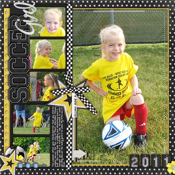 Soccer Girl - Scrapbook.com