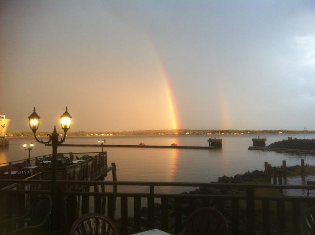 View from Lobster on the Wharf after the rain