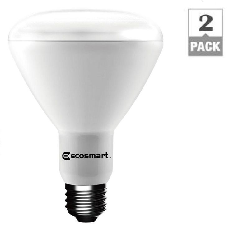 EcoSmart 75W Equivalent Soft White BR30 Dimmable LED Light Bulb (2-Pack)-1003012903 - The Home Depot