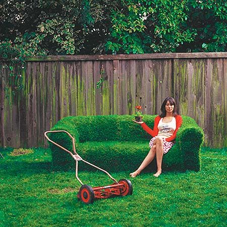 .: Diy Ideas, Backyard Ideas, Lawn Furniture, Lawn Mower, Couch, Grass, Sprouts, Gardens, Sofas